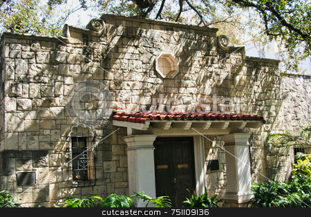 The Alamo Library stock photo, The Alamo located in San Antonio Texas was the location of the great last stand by some of the biggest Texas Heroes. by Kevin Tietz