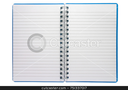 A small spiral notepad stock photo, A small spiral notepad by Stephen Rees