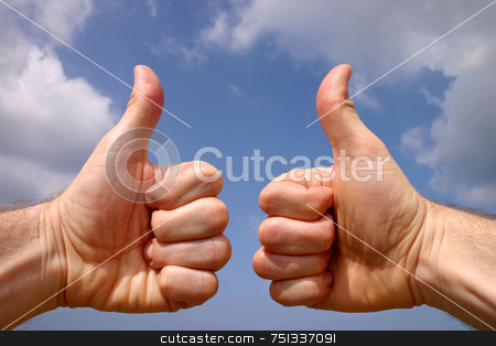 Thumbs up sign stock photo, Thumbs up sign by Stephen Rees