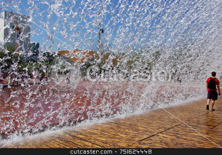 Water wires stock photo, Rain of Deep water wires in hand. by Inacio Pires