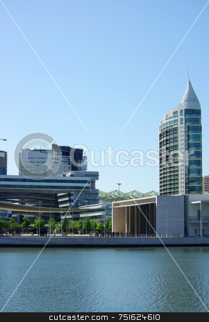 Modern building in Lisbon. stock photo, Modern building in the eastern zone of Lisbon. by Inacio Pires