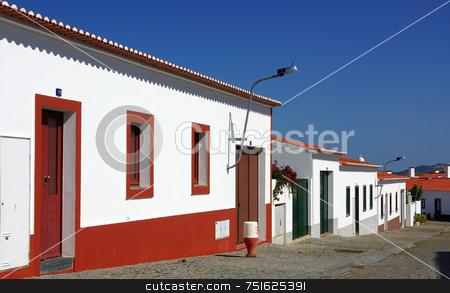 Traditional street in Alentejo. stock photo, Traditional street in Alentejo, south of Portugal.. by Inacio Pires