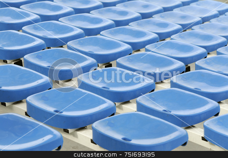 Seats stock photo, Rows of empty seats in a stadium by Massimiliano Leban