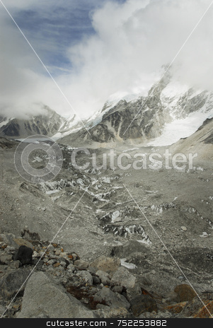 Khumbu Valley stock photo, Khumbu Valley (Everest) Nepal by A Cotton Photo