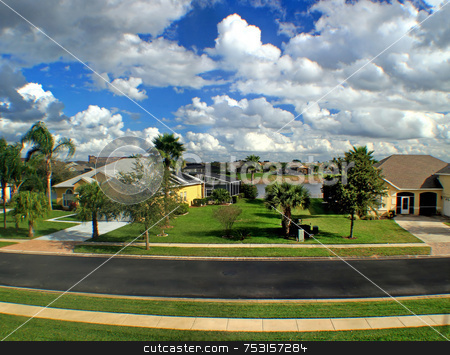 Florida Estate stock photo, A View of an Estate in Florida. by Lucy Clark