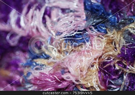 Fibres Close-Up stock photo, A macro photograph of threads and fibers by Philippa Willitts