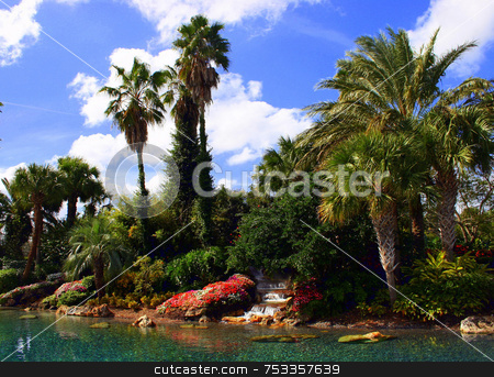 Exotic View stock photo, An exotic view in the usa with a waterfall. by Lucy Clark