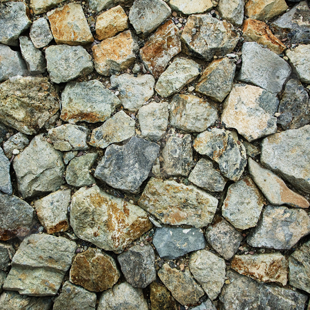 Rock Pattern stock photo, Pattern of rocks placed together on the ground. by Scott Griessel