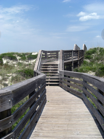 WindingTrail stock photo, A winding trail leads to the beach that is on the other side by Rebecca Mosoetsa