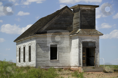 Abandoned Church stock photo, Neglected and abandoned rural church shot with a long lens. by Scott Griessel