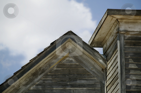 Roff of an Abandoned Church stock photo, Wooden roof of a neglected and abandoned rural church. by Scott Griessel