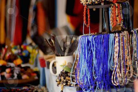 Trinkets stock photo, Inexpensive items for sale in a Central American market place. by Scott Griessel