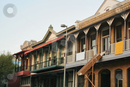 Old Historic Building stock photo, An old group of historic buildings in a Victorian style by Kevin Tietz