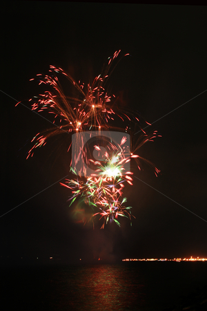 Colorful fancy fireworks stock photo, Colorful fancy fireworks by the bay by Jonas Marcos San Luis