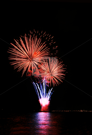 Ice cream on cone fireworks stock photo, Ice cream on cone fireworks by the bay by Jonas Marcos San Luis