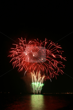 Red flower bouquet fireworks stock photo, Red flower bouquet fireworks by the bay by Jonas Marcos San Luis