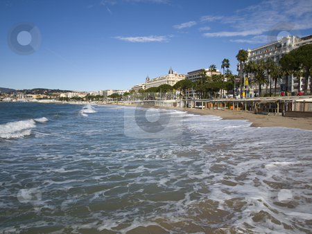 Cannes beach stock photo, The beach in Cannes - French Riviera by CRISTINA TOSI