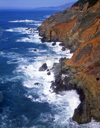 Big Sur Coast 1 stock photo, The Big Sur coastline in California. by Mike Norton