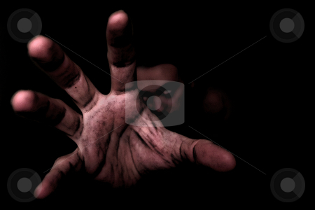 ... an hand from the deepest darkness stock photo,  by emiliano beltrani