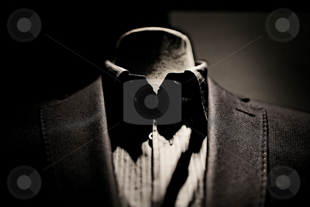 Dark suit no body stock photo,  by emiliano beltrani