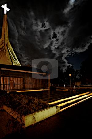 ... a church on a noptunal storm stock photo,  by emiliano beltrani