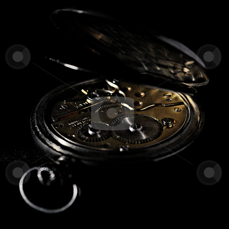 ... an ancient pocket clock (back side) stock photo,  by emiliano beltrani
