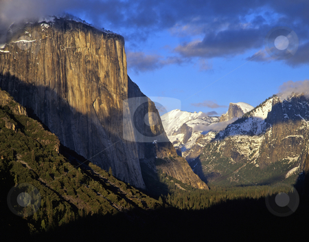 Yosemite Valley  stock photo, The Yosemite Valley in Yosemite National Park, California. by Mike Norton