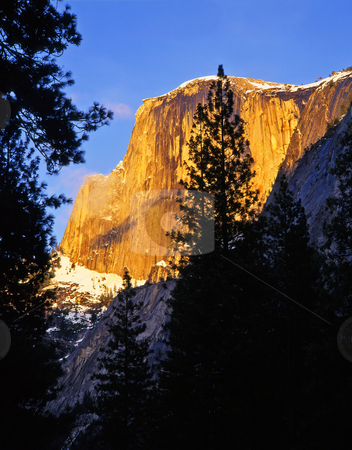 Half Dome 2 stock photo, Half Dome in Yosemite national Park, California. by Mike Norton