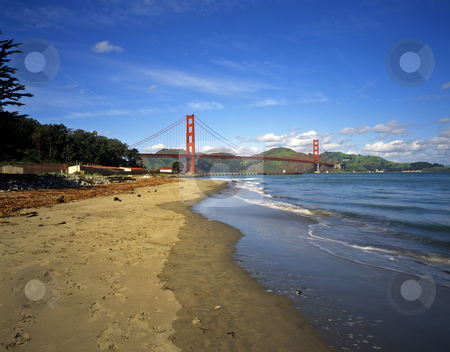 Golden Gate Bridge 7 stock photo, The Golden Gate Bridge, photographed from the San Francisco side. by Mike Norton