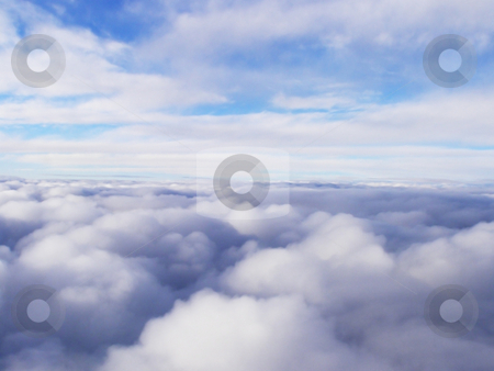 Clouds stock photo, White stratosphere clouds high in the sky by ImageZebra .