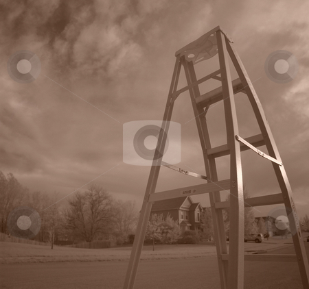 Climb towards the sky stock photo,  by John Adair