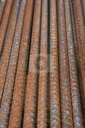 Steel Rods stock photo, Steel rods used in construction by Tom and Beth Pulsipher