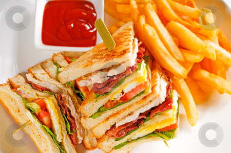 Triple decker club sandwich stock photo, fresh triple decker club ...