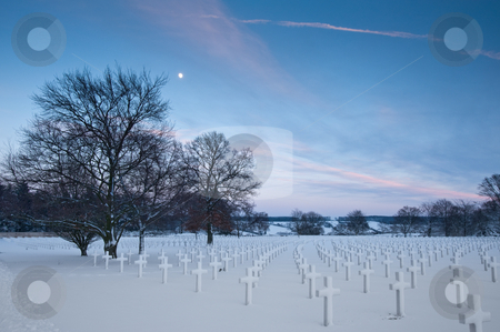 Henri-Chapelle Cemetery stock photo, Henri-Chapelle American Cemetery and Memorial by Jaime Pharr