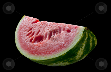 Water melo, on black, isolated. stock photo, Water melon isolated on black, clipping path. by Pablo Caridad