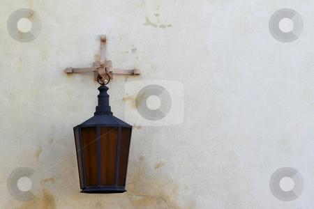 Wall light stock photo, wall light turned off on light background by Henrik Lehnerer