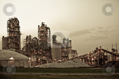 Factory  stock photo, Chemical Plant  Modern factory by Dmitry Pistrov