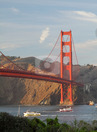 Golden Gate Bridge stock photo, View of Golden Gate Bridge, San Francisco, California, USA by Olena Pupirina