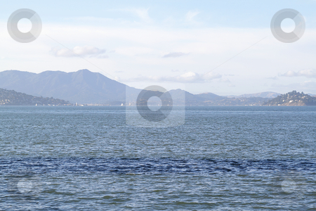 Seascape stock photo, Seascape in San Francisco bay with mountains on background by Olena Pupirina
