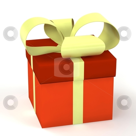 Gift box over white background stock photo, gift box over white background 3d rendered by vetdoctor