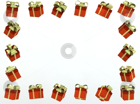 Gift box photo frame stock photo, gift box photo frame 3d rendered for commercial by vetdoctor
