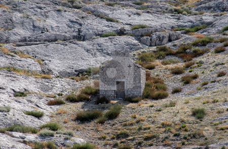 Ruins of an old church stock photo, Ruins of an old church on Pag islands in Adriatic sea. Croatia.  by Zvonimir Atletic