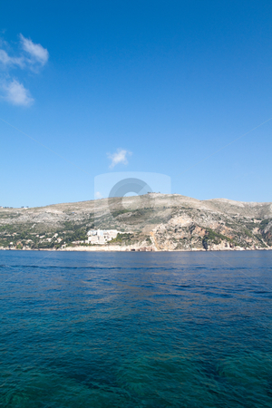 Blue Waters of Croatia stock photo, The beautiful coastline of Dubrovnik, Croatia  by Kevin Tietz