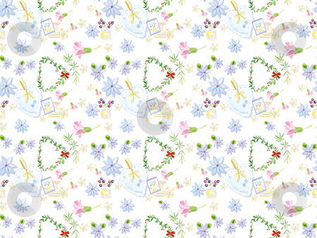 Seamless pattern - 20044 stock photo, Freehand drawing- herb wrapping seamless pattern 