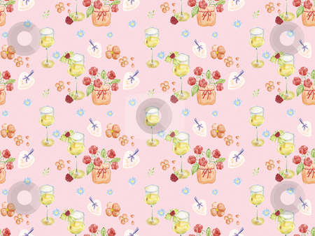 Seamless pattern - 20045 stock photo, Freehand drawing- herb wrapping seamless pattern   by Tang Shu-chuan