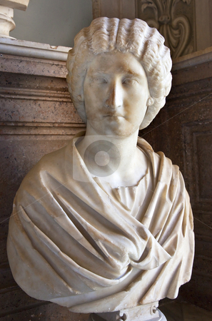Statue Roman Womanr Capitoline Museum Rome Italy stock photo, Statue Sculpture Bust of Roman Woman Capitoline Museum Rome Italy   by William Perry