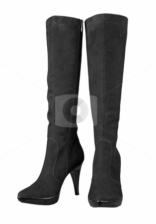 Female high boots stock photo, Female high boots isolated on white background by krasyuk