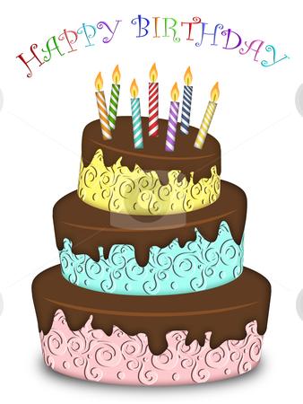 happy birthday cake candles. #800865258 Happy Birthday