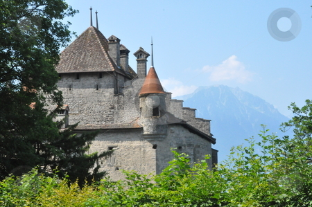 Chillon Castle in Montreux stock photo, Chillon Castle in Montreux, Switzerland by Ritu Jethani
