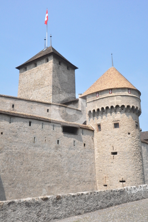Chillon Castle in Montreux stock photo, Chillon Castle in Montreux, Switzerland by Ritu Jethani